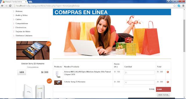 tienda online php compras