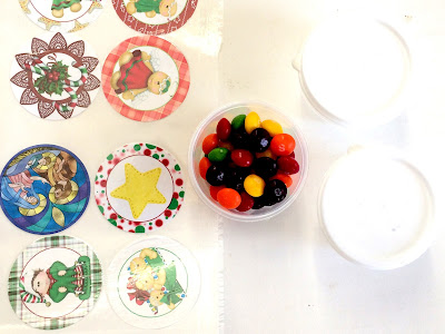 Christmas Stickers for Christmas Candy Cups