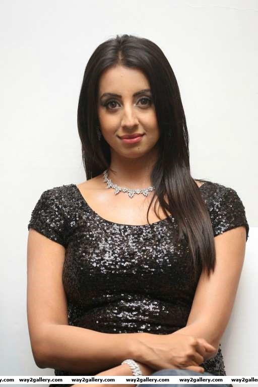 We spotted Sanjjanaa at Tollywood Thunders launch
