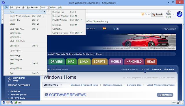 تحميل متصفح سي مونكي مجانا للكمبيوتر SeaMonkey 2.40