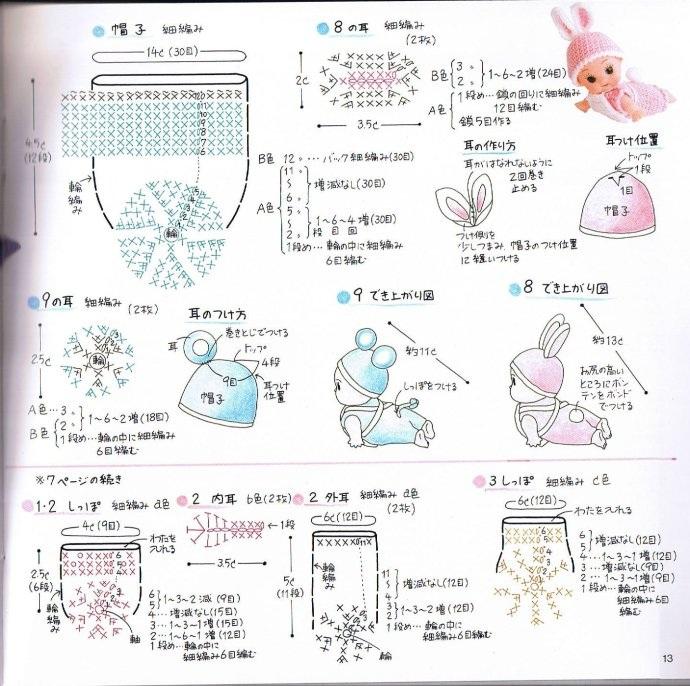 Вязаная одежда для маленьких кукол. Схемы (10)