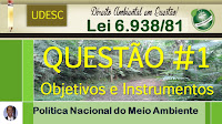 Política Nacional do Meio Ambiente - Correção de Questão #1 - UDESC - Lei 6.938/81
