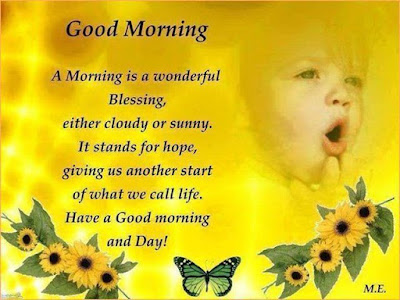Good Morning Quotes For Friends: a morning is a wonderful blessing,