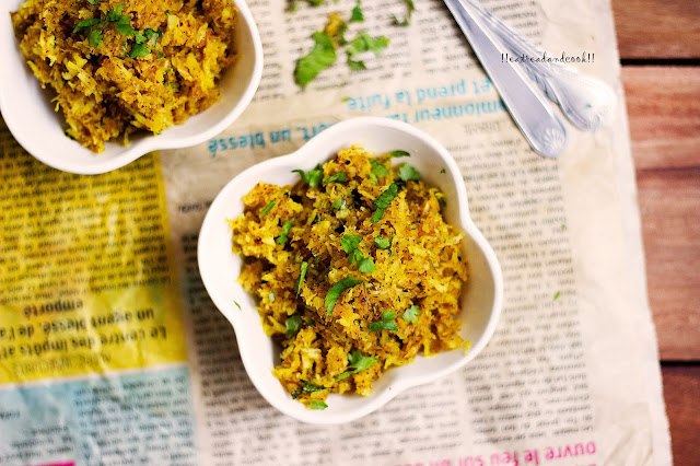how to make Narkel Sorshe / Grated Coconut with Mustard Paste recipe and preparation