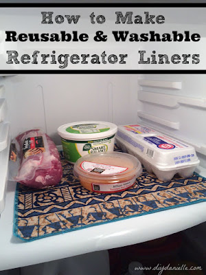This tutorial will cover how to make easy, reusable, and washable refrigerator liners using PUL fabric. This is a great way to use extra PUL if you have some laying around from making cloth diapers. It's also a great item to make to help make cleaning your refrigerator fast and easy. I found having two sets to be perfect for easily swapping out liners on cleaning day.