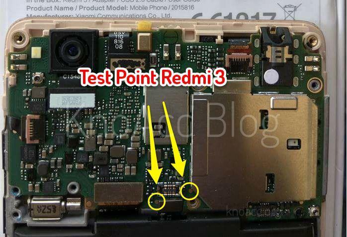 Letak Pin Test Point Xiaomi Redmi 3 Pro Prime Knoacc