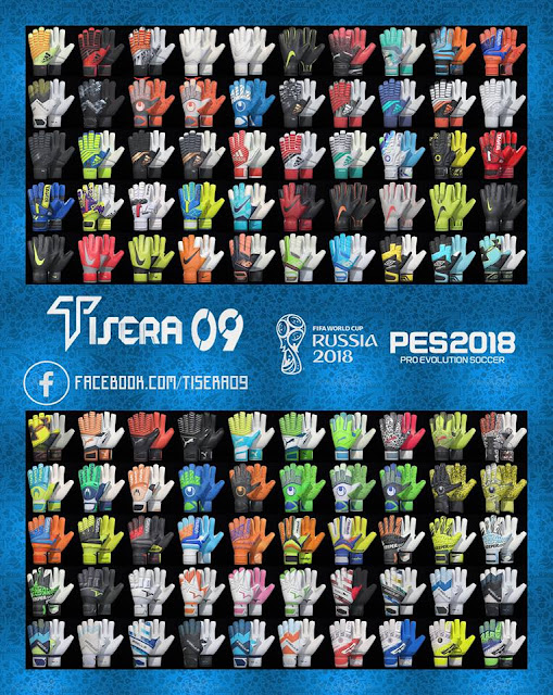 PES 2018 HD Glovepack v3 by Tisera09