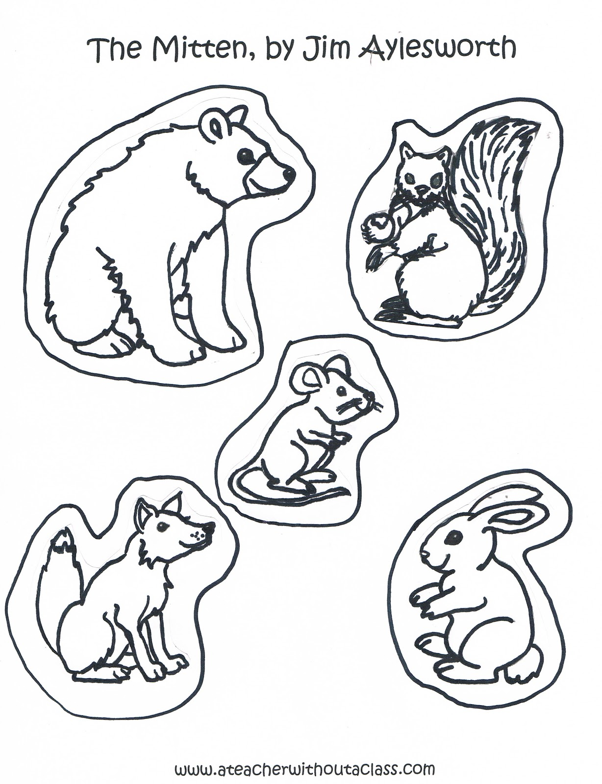 Search Results For Printable Animals From The Mitten
