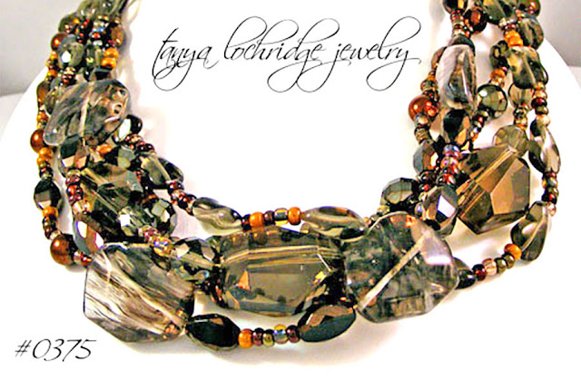Tanya Lochridge Jewelry Smoky and Rutilated Quartz Gemstone Necklace