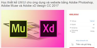 Học thiết kế UX/UI cho ứng dụng và website bằng Adobe Photoshop, Adobe Muse và Adobe xD design CC 2017