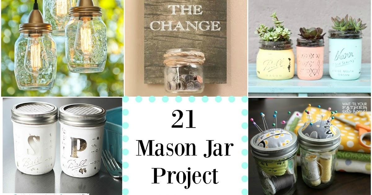 21 Mason Jar Project Ideas