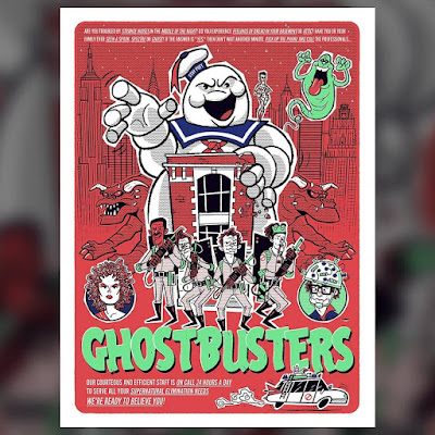 "New York Comic Con 2018 Exclusive Ghostbusters ""We're Ready To Believe You!"" Glow in the Dark Screen Print by Ian Glaubinger"