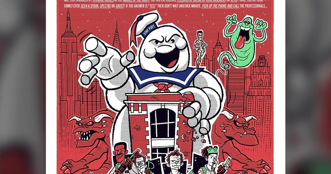 """The Blot Says...  NYCC 2018 Exclusive Ghostbusters """"We re Ready To Believe  You!"""" GID Screen Print by Ian Glaubinger fd4e6e553165"""