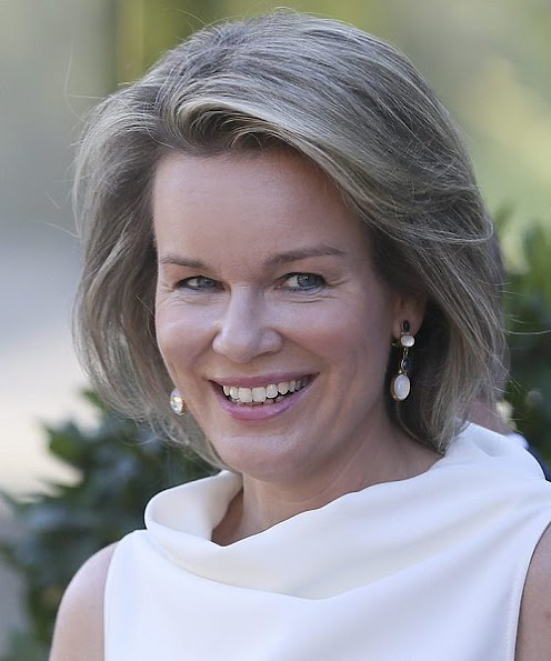 Queen Mathilde of Belgium, Hereditary Princess of Liechtenstein, Sophie, German Daniela Schadt, life partner of President Joachim Gauck and Swiss Katharina Schneider-Ammann, diamond wedding dress