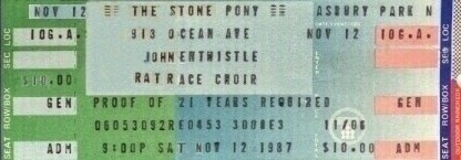 John Entwistle Rat Race Choir ticket 1987