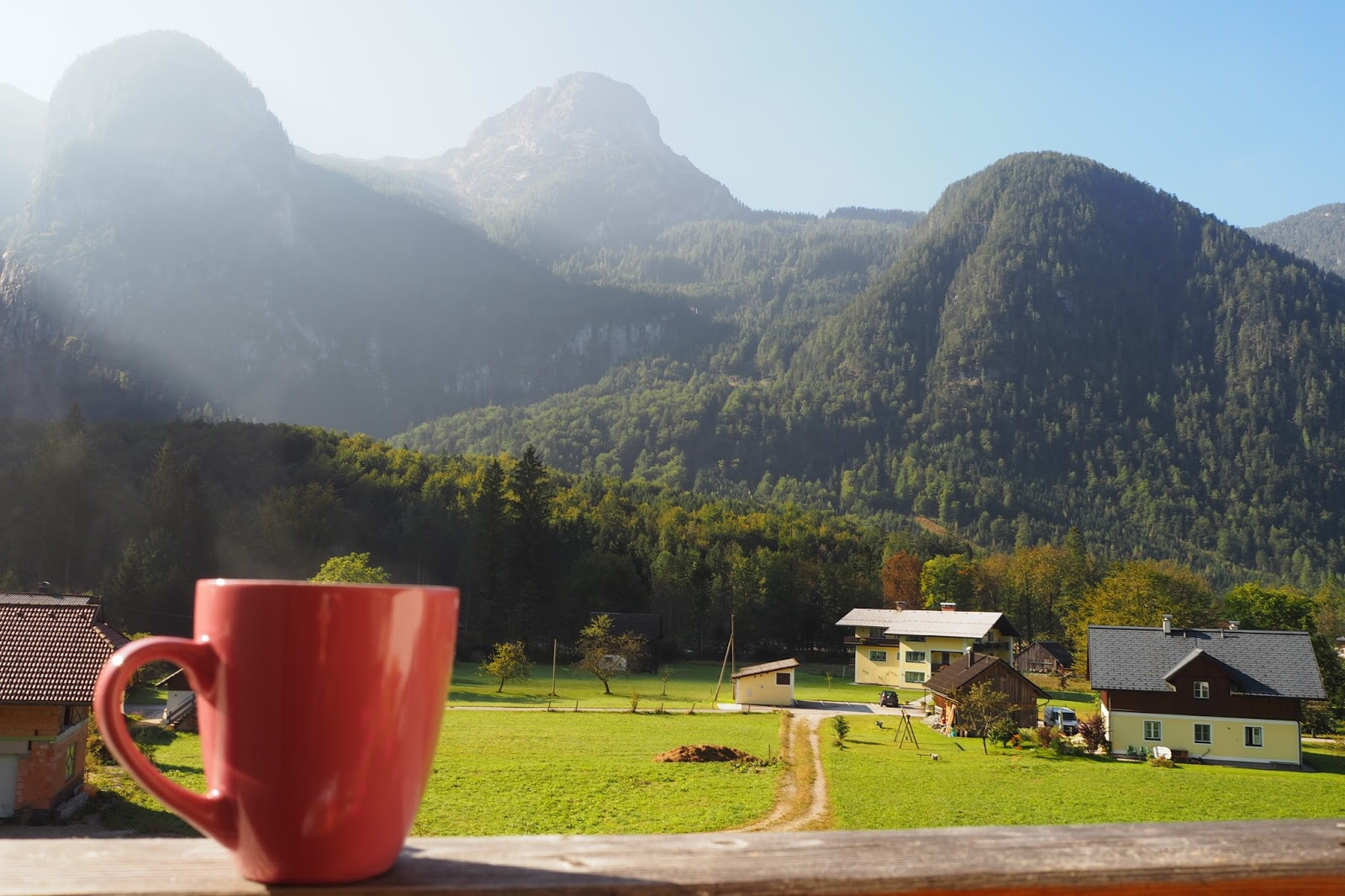 Views from apartment in  Obertraun , Austria