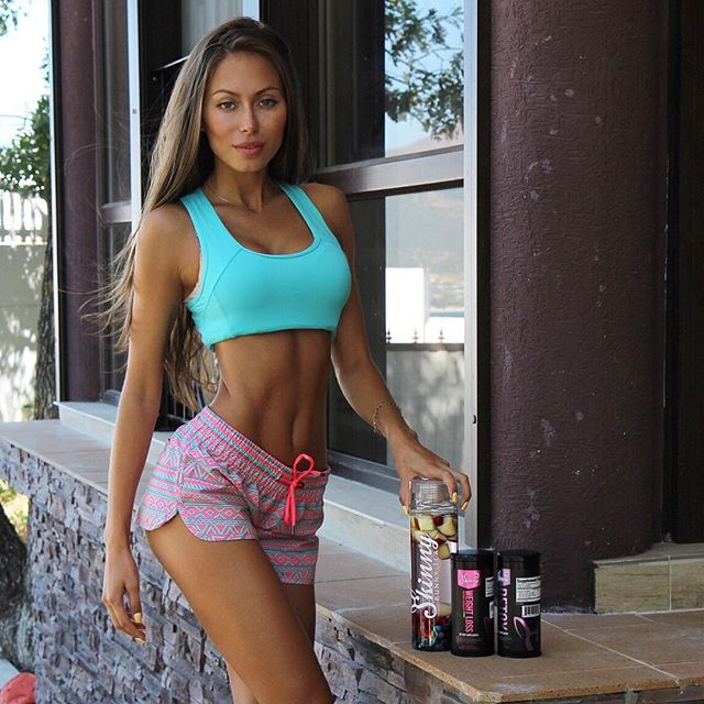 Fitness models Galinka Mirgaeva Instagram photos