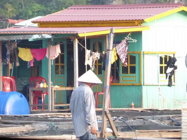 Bahía de Lan Ha, pueblo flotante