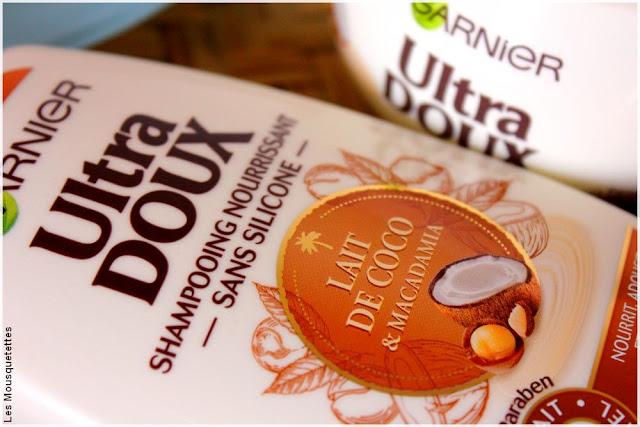 Shampoing nourrissant Lait de coco et macadamia, Ultra Doux de Garnier - Blog beaute