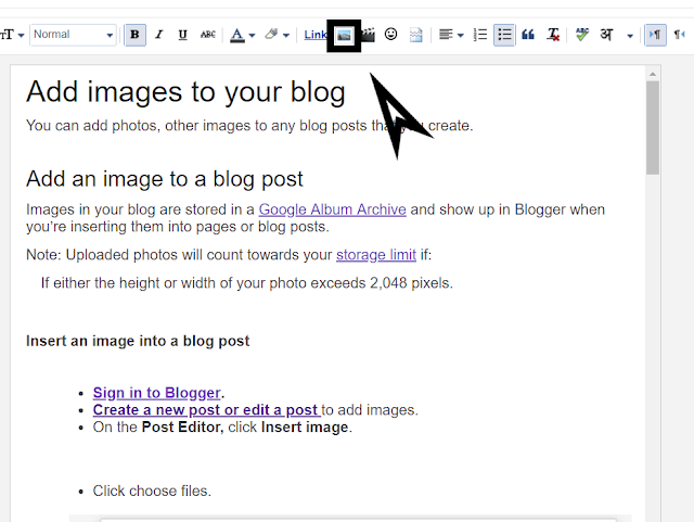HOW TO ADD IMAGES TO A BLOG POST