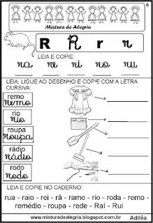 Livro famílias silábicas letra R