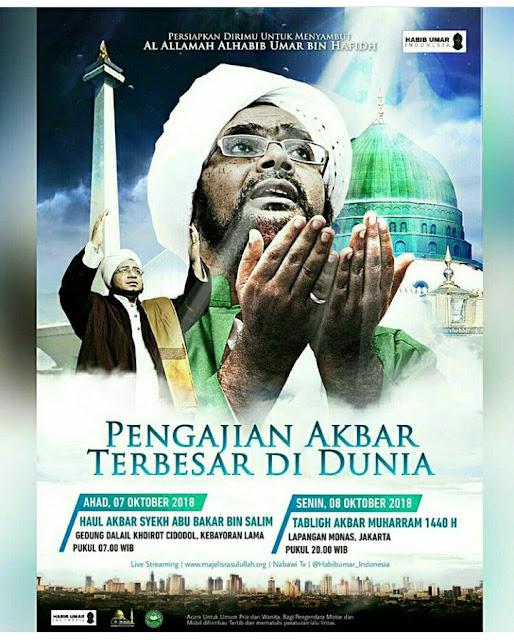 Haul Akbar Syekh Abu Bakar Bin Salim Digelar 7 Oktober 2018