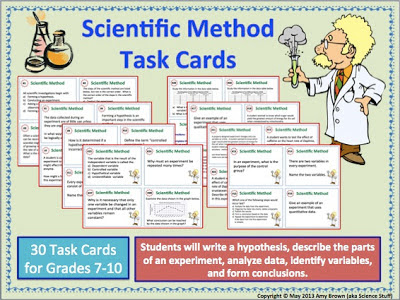 amy brown science scientific method task cards. Black Bedroom Furniture Sets. Home Design Ideas