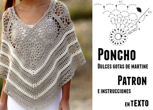 patron poncho crochet