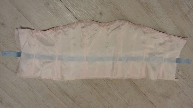 silk satin wedding dress bodice and bemberg lining