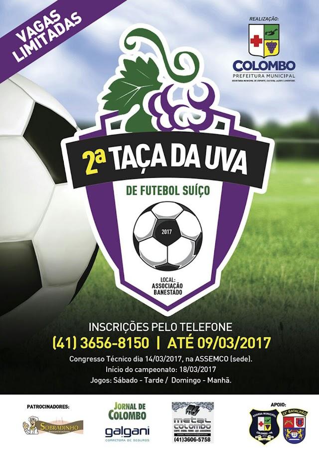 Começa neste fim de semana a 2° Taça da Uva de Futebol Suíço