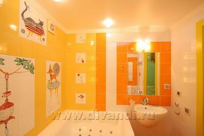 ванные комнаты, как красить ванные комнаты
