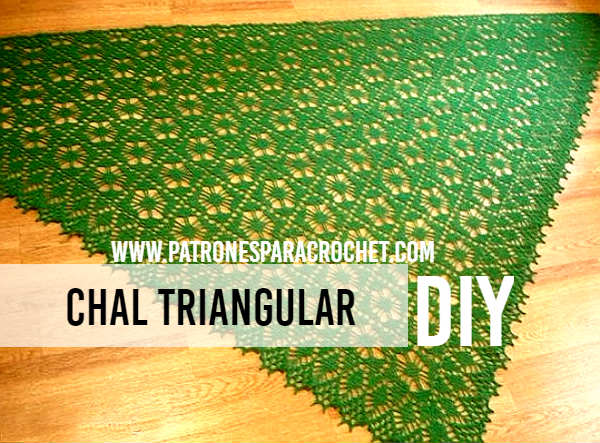 Chal triangular / Patrones y tutoriales | Patrones para Crochet