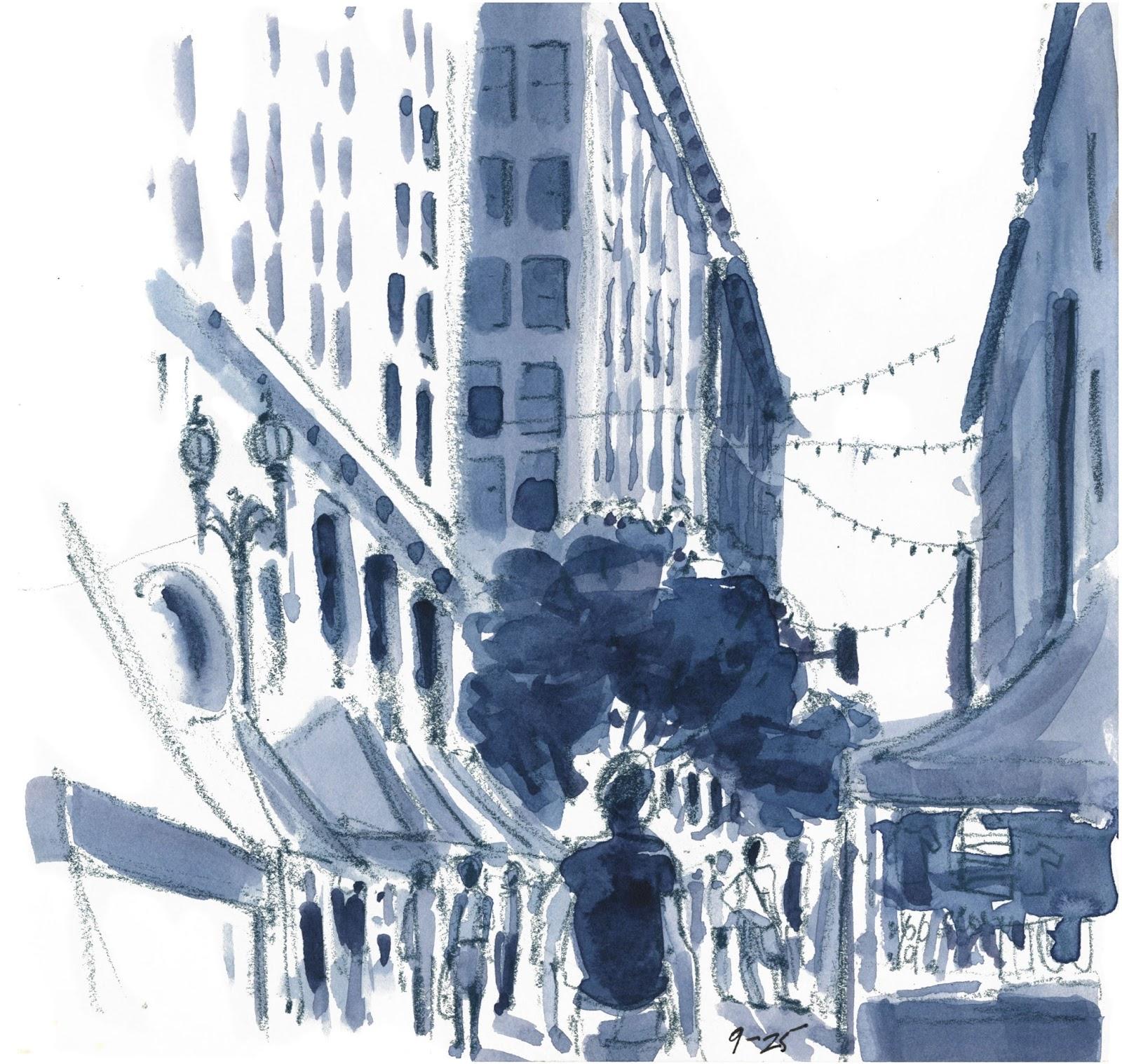 Sketching in Los Angeles...the LA Plein Air Festival   Urban Sketchers