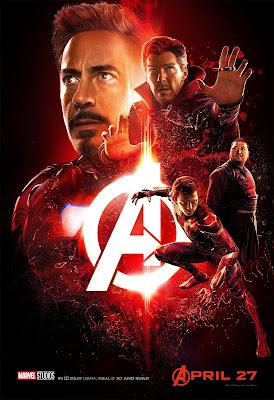 Marvel Avengers Infinity War poster Tony Stark Stephen Strange Wong Peter Parker