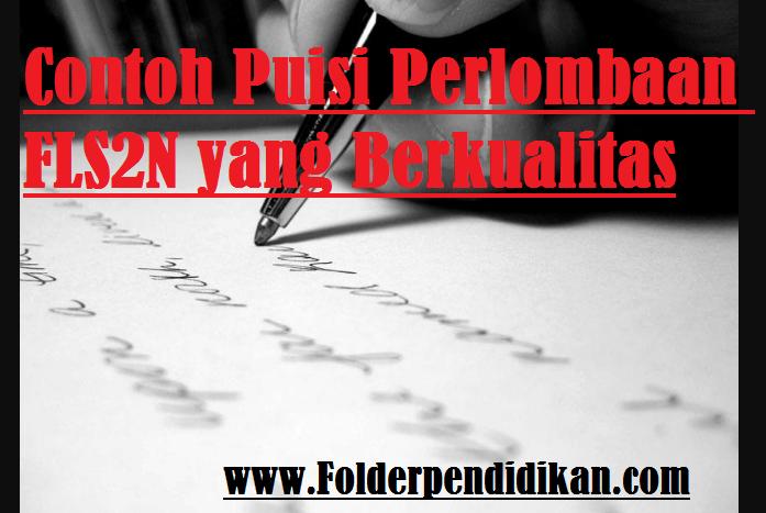 Contoh Puisi Perlombaan Fls2n Informasi K13