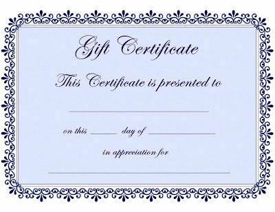 Blank Gift Certificate Birthday Template Dfall