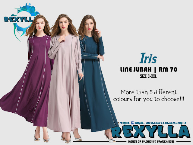 rexylla, line jubah, iris collection