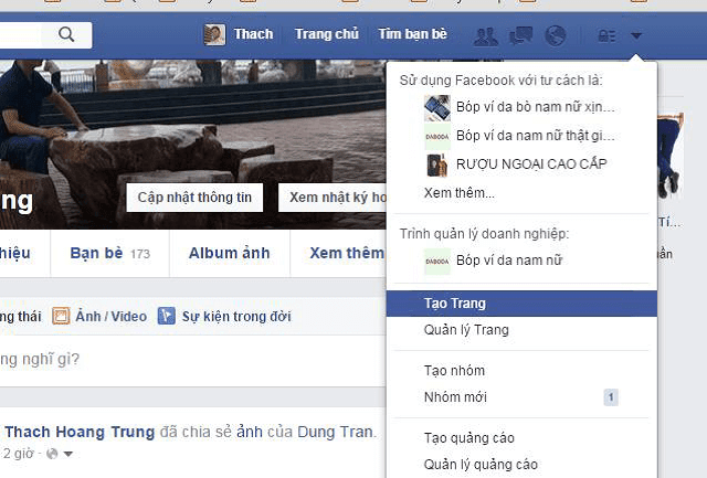 Tạo trang Fanpage Facebook