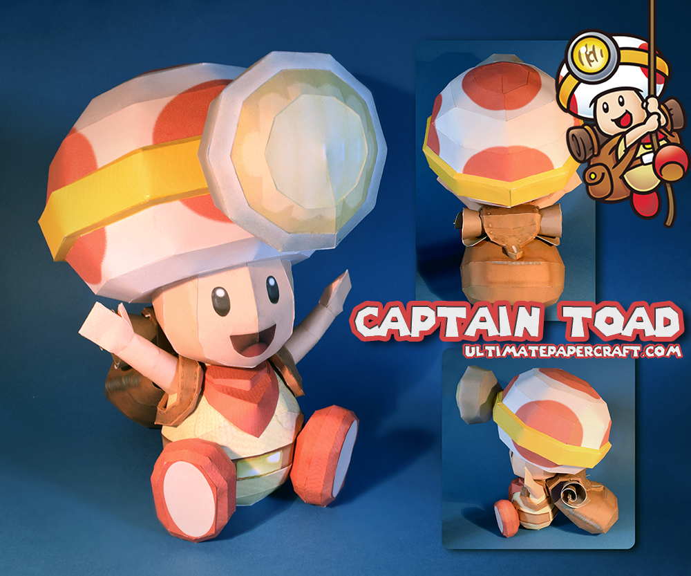 Captain Toad Papercraft