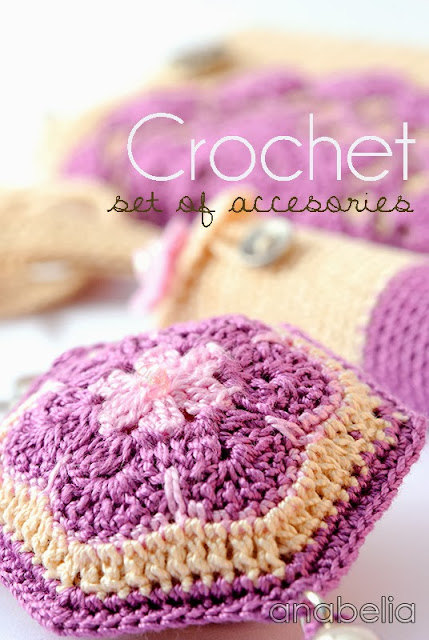 Set of crochet accesories by Anabelia