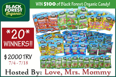 Enter the Black Forest Organic Giveaway. Ends 7/18