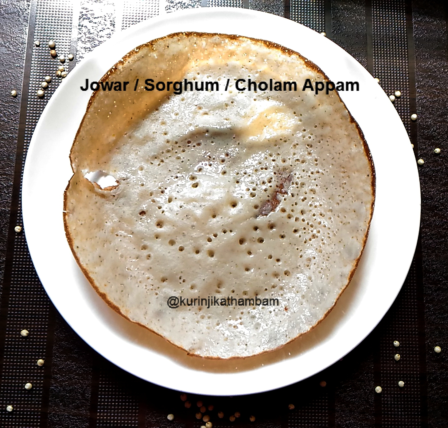 Jowar Aappam / Sorghum Appam / White Cholam Aapam | Jowar Recipes ...
