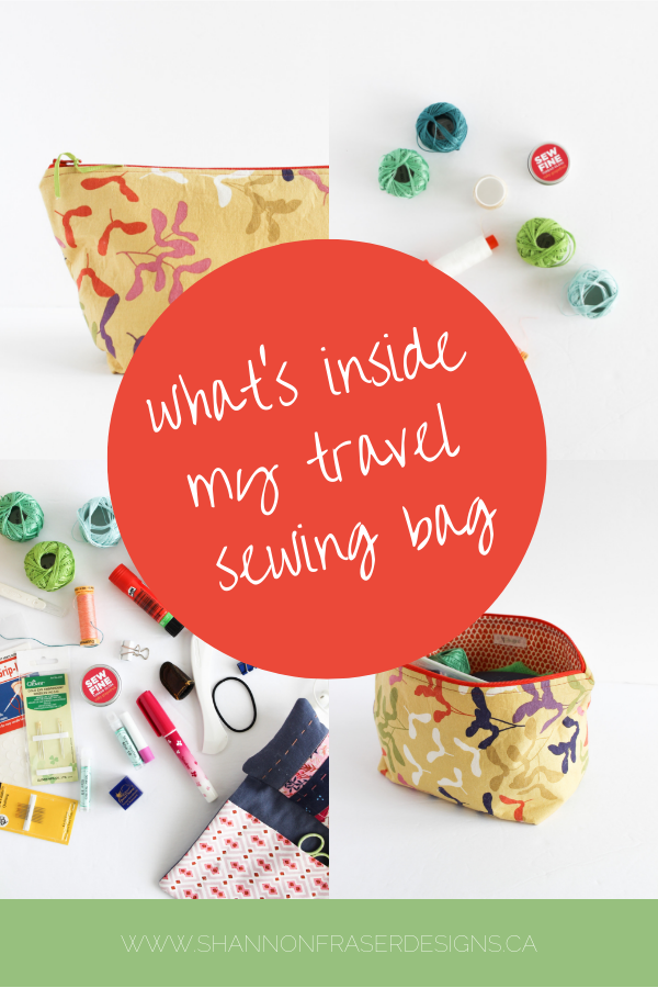Take a peek inside! | What's in my travel sewing bag | Shannon Fraser Designs