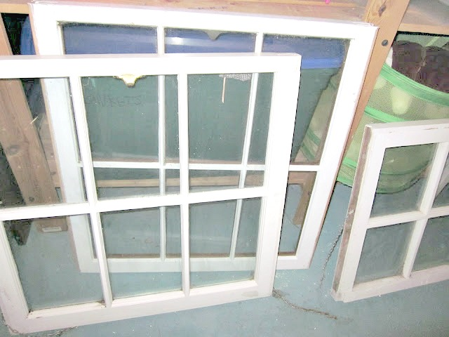 group of old 6 pane windows