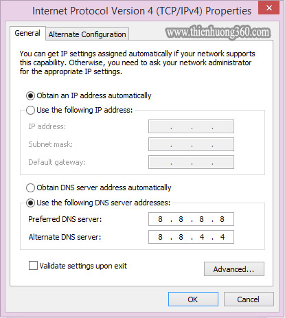 Cách đổi IP DNS để truy cập Facebook - Bước 6