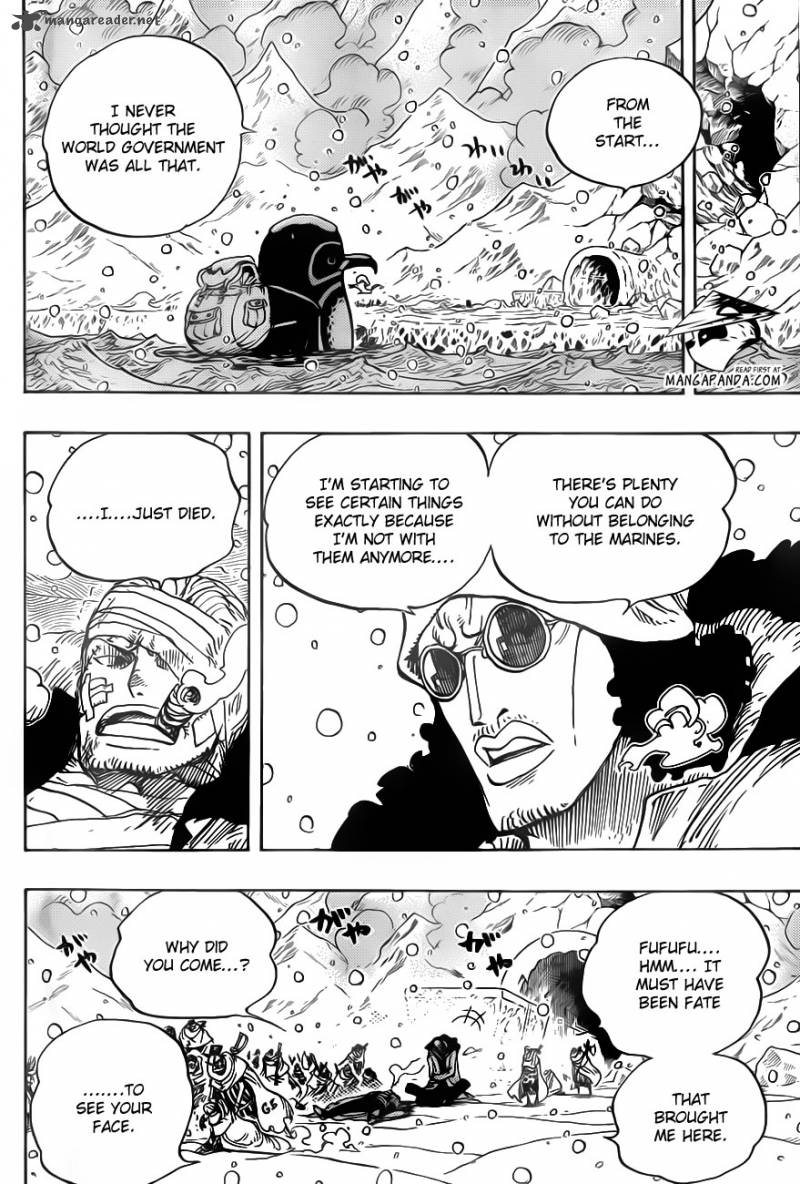 One Piece Ch 699: The Morning Paper