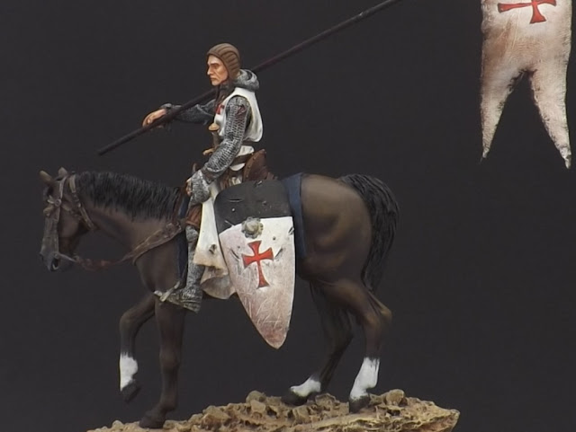 Templar Knight on Horseback c.XI - Andrea Miniatures 90mm Templar%2B1