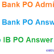 Download IB PO Mains 2017 Admit Card - 28 Feb Indian Bank PO Answer Key Set Wise