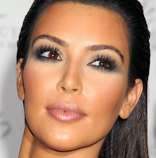 Enhanced Eye Makeup Kim Kardashian