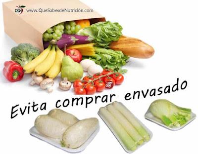 QSN: Evita comprar frutas y verduras envasadas